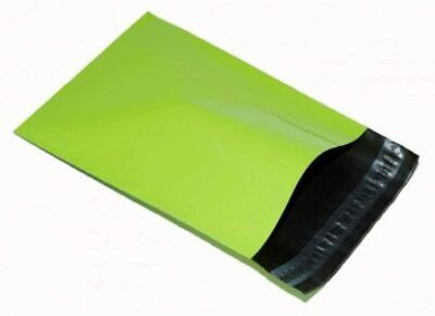 100 STRONG POSTAL PLASTIC POSTAGE POLY MAILING BAGS MAILERS NEON GREEN 12''x16''