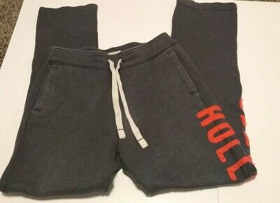 Hollister Womens Sweat Pants Sweats Gray Size M Medium Sweatpants