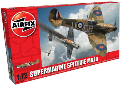Airfix Supermarine Spitfire Mk.Ia 1:72 Scale Plastic Model Plane Kit A01071B