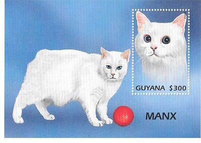 GUYANA - CATS, 1997- SC 3218 S/S MNH