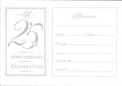 Celebrating 25 Years 25th Wedding Anniversary Invitations By Hallmark Set of 14 25 Year Anniversary Invitations