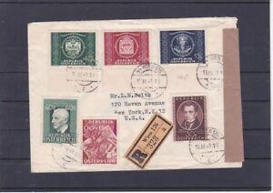 Reco Zensur Satzbrief UPU mit Zusatzfrankatur ECHT gelaufen Wien - New York 1949 - Graz, Österreich - Rücknahmen akzeptiert - Graz, Österreich