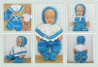 5-tlg Set Outfit Anzug Kombination  Schildkröt SK Strampelchen Puppen 16 cm
