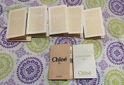 CHLOE & LOVE STORY Eau de Parfum Perfume Spray 3 x 1.2 ml  .04 fl oz SAMPLES NEW