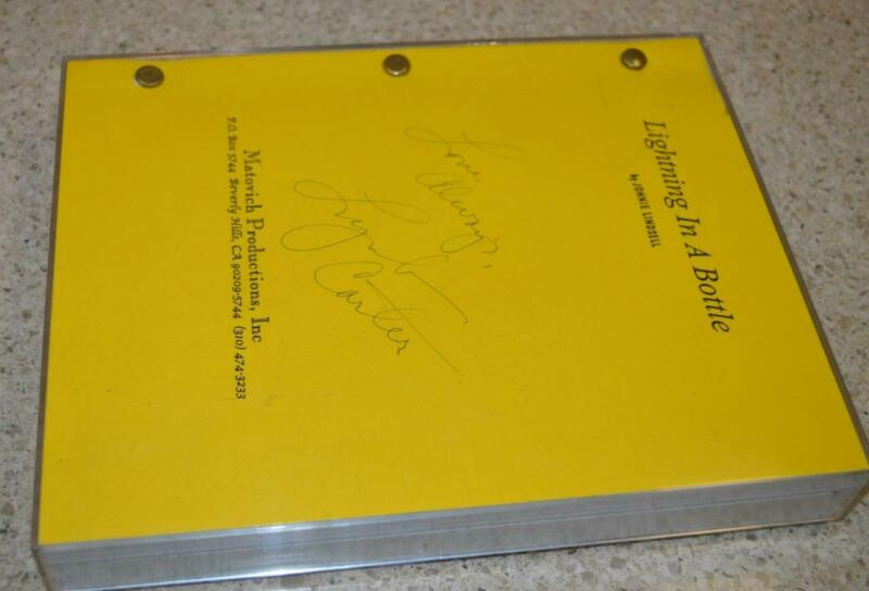 Vintage Signed Lynda Carter Lightning in a Bottle Movie Script Jonnie Lindsell