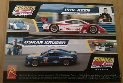 2015 Phil Keen + Oskar Kruger Sunoco Challenge Winner Rolex 24 IMSA postcard