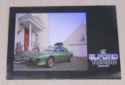 MAZDA RX7 ELFORD TURBO Car Sales/Specification Sheet 1981/82