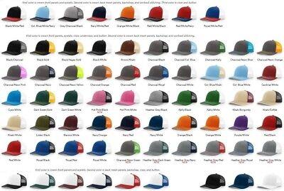 Richardson - Trucker Cap, Baseball Hat, Meshback Hat, Snapback, 80 Colors, 112