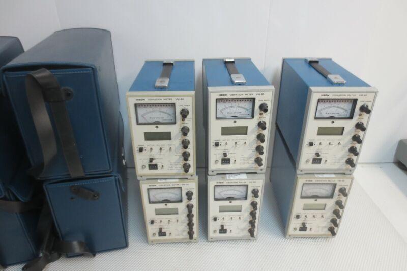 Lot of 6 RION VIBRATION METERS Model VM-80