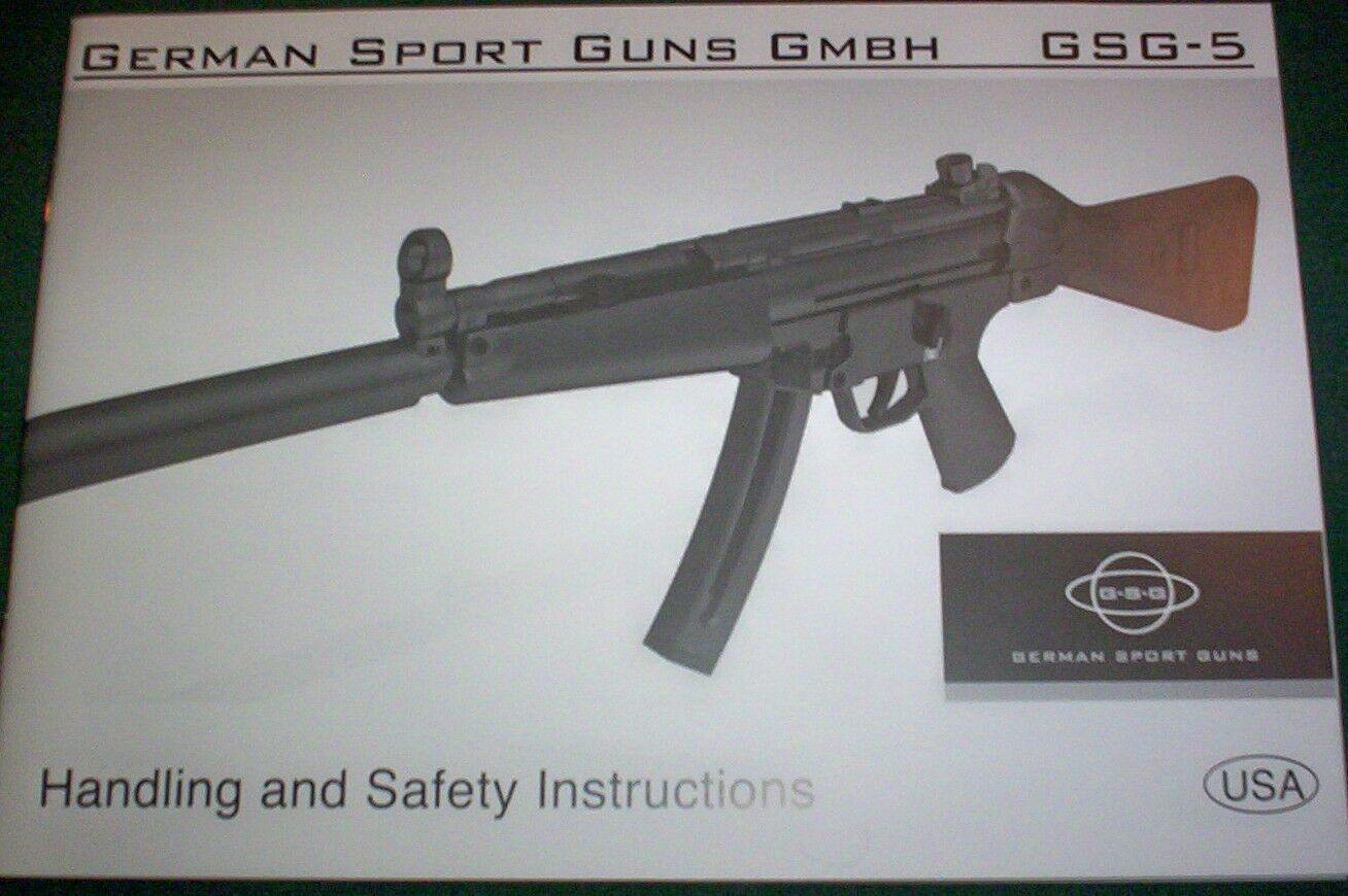 Gsg-5 Gsg-522 Factory Owners Manual Original Safety & Handling Booklet
