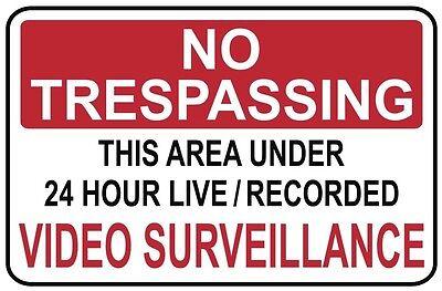 No Trespassing -video Surveillance Sign- Ps-407