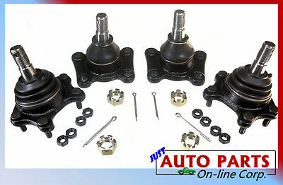 NEW BALL JOINTS SET 4WD 2WD 4RUNNER T100 PICKUP DLX SR5 Front Lower Upper 86-95