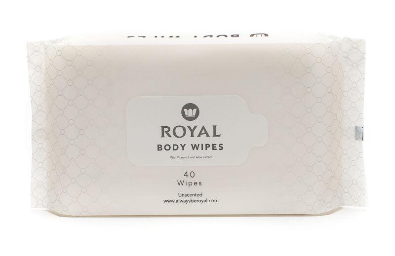 Royal Flushable Baby Wet Wipes - Anti Itch, Anti-Rash - 160 Wipes - 4 Pouches