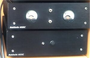 Quad 405 Clone Stereo Power Amplifier. Professionally Built. Dual Case with VUs