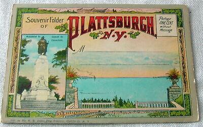 Vintage Plattsburgh, New York Postcard Souvenir Folder   Souvenir Postcard Folder