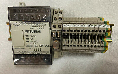 Mitsubishi Melsec Model Fxos-10mt-dss Plc Plus Din Rail Terminals