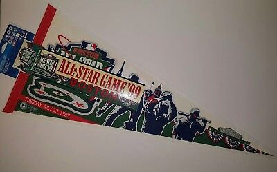 Boston Red Sox All Star Game 1999 Pennant w/ Bumper Sticker & Pin Fenway Park 99 (All Star Game Fenway Park)