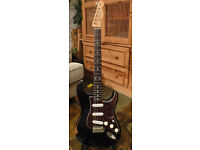 Fender MIM Road Worn Series '50s Black relic Stratocaster with upgrades