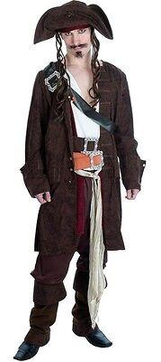 Herren 11 Piece Deluxe Rum Smuggler Piraten Bösewicht Kostüm Kleid Outfit M-XL