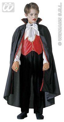 HALLOWEEN CARNEVALE COSTUME VESTITO VAMPIRO BAMBINO 8/10 ANNI