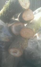 Round hardwood sticks ideal small log burners