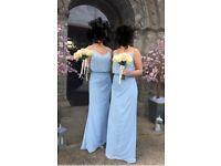 True Bride powder blue bridemaid dresses. Uk size 8 & 10. Slightly altered