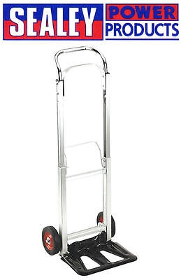 Sealey CST980 90kg Folding Lightweight Aluminium Sack Truck/Cart/Trolley/Barrow