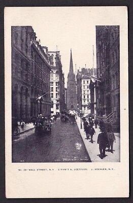 USA NY NEW YORK Wall St c1902 u/b PPC by J Koehler