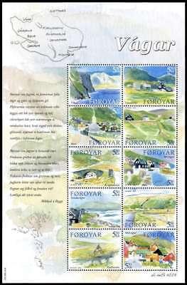 Faroe Islands 2005 Vagar, Villages & Lanscape views, mini sheet, MNH / UNM