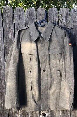 Vintage Men's German Military Army Wool Jacket Coat