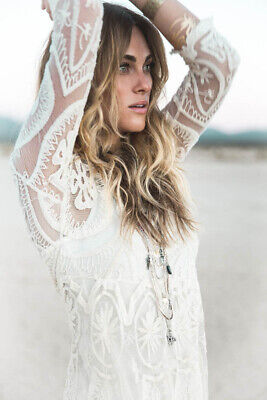 NWOT Free People Jen's Pirate Booty Teardrop Pixie Embroidered Lace Dress M Rare