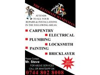 THE ULTIMATE HANDYMAN- CARPENTER,ELECTRICIAN,PLUMBER,PAINTER,CCTV 24/7 ANY TIME QUALITY SERVICES.
