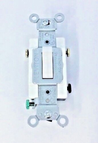 LOT OF 10 Leviton CS320-2W 20 A 3-Way Commercial Grade Toggle Switch White
