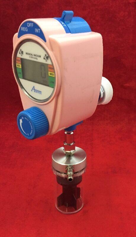 Amvex Vacuum Regulator 0-160 Mmhg Digital Pink W/trap Type # 1 See Listing