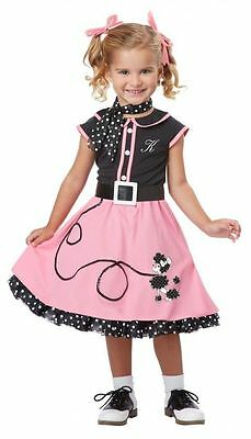 Kinder 50s Pudel Cutie Party Kleinkind Kleid Rock Halloween Kostüm S-L (Pudel Kleid Kostüm Kinder)