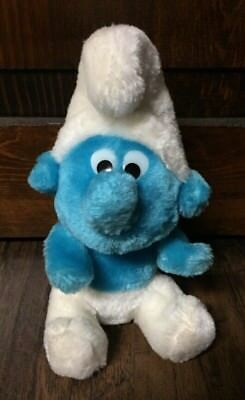 "Cute Vintage 1980 Peyo ""Smurfs"" Collectible 8"" Tall Beanie Plush GVC"