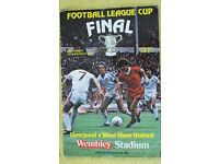 Saturday 14 March 1981 League Cup Final Liverpool vs West Ham programme in near mint condition