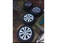 """X4 Volkswagen Alloys 16"""" + New tyres"""