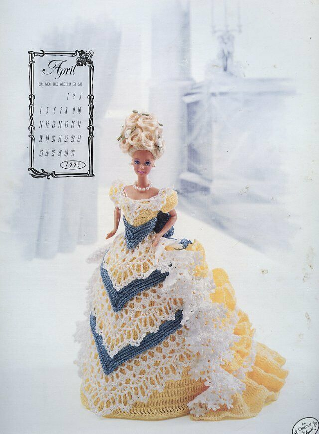 Miss April 1993 Centennial Outfit for Barbie Doll Annies Crochet Pattern Booklet