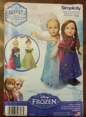 Disney Clothing For Adults (Sewing Pattern Simplicity S0747 Disney frozen for 18