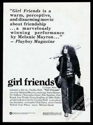 1978 Girl Friends Claudia Weill movie release vintage print ad