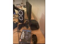 PS4 with 2 controllers and last of us 2