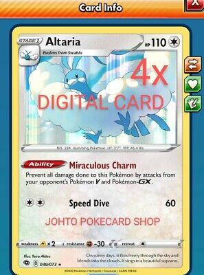 4x Altaria & Swablu Champion's Path DIGITAL Pokemon TCG Online code FAST DELIVER