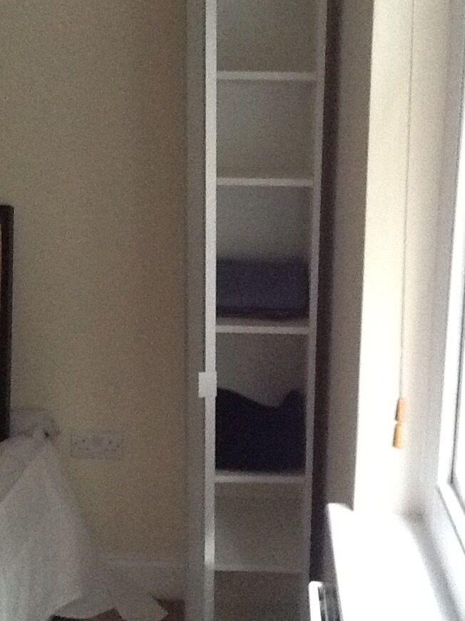 IKEA LILLÅNGEN High cabinet with mirror door, white | in ...