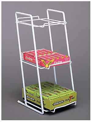 2 Counter Gum Candy Snack Display Rack - 3 Tier Boxed Good White