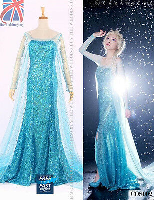 Damen Erwachsene Frozen Prinzessin Königin Elsa Kostüm Cosplay Party COS002