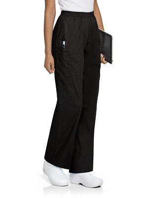 Landau Women's Full Elastic Waist Cargo Scrub Pant - 83221 FREE SHIPPING! (Landau Womens Elastic Pant)
