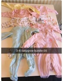 3 -6 month babygrow bundle
