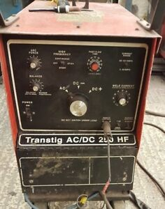 Murex Tig Welder Transtig AC/DC 250 HF -- ## SINGLE PHASE or 3 ##