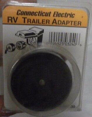 Connecticut Electric AD20-30 RV Trailer Outlet Adapter,
